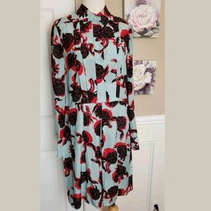 SEE BY CHLOE BLUE FLORAL LOOSE 2 PIECE SMOCK DRESS